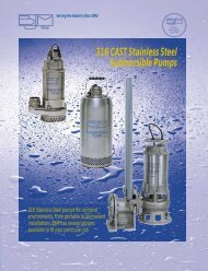 316 CAST Stainless Steel Submersible Pumps - KTH Sales, Inc.