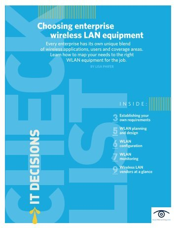 Choosing enterprise wireless LAN equipment - Bitpipe