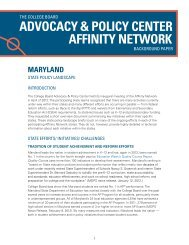 Maryland: State Policy Landscape - College Board Advocacy ...