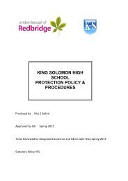 Child Protection Policy - March 2012 - King Solomon High School