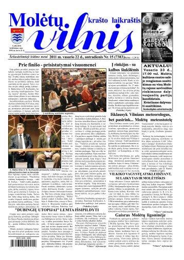 2011 m. vasario 22 d., antradienis Nr.15 - 2013 - VILNIS