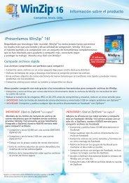 ¡Presentamos WinZip 16! Información sobre el producto - Insight