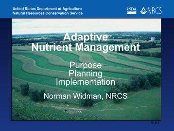 Adaptive Nutrient Management
