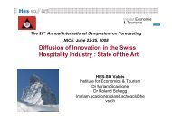 Diffusion of Innovation in the Swiss Hospitality Industry : State of the Art