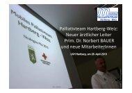 Palliativteam Hartberg-Weiz