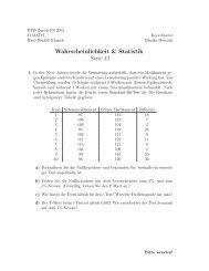 Wahrscheinlichkeit & Statistik Serie 13 - FIM - ETH Zürich