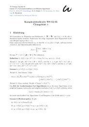Komplexitätstheorie WS 02/03 ¨Ubungsblatt 1 1 Einleitung