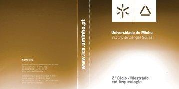 desdobrável Mestrado em Arqueologia - ICS - Universidade do Minho