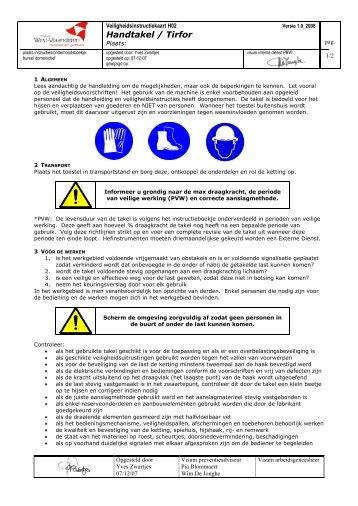 Handtakel-Tirfor (PDF) - BeSWIC