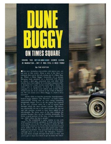 Dune Buggy on Times Square - Popular Imported ... - Bimelliott.com