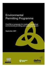 Environmental Permitting Programme - Eunomia Research ...