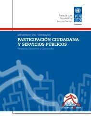 ParticiPación ciudadana y servicios Públicos - Programa de las ...