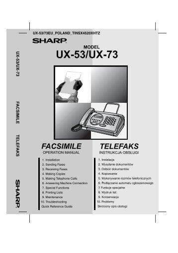 UX-53/73 Operation-Manual PL - Sharp