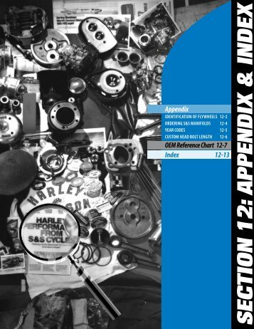 OeM cross reference, Appendix & index - S&S Cycle