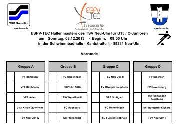 Gruppeneinteilung U15 - TSV 1880 Neu-Ulm