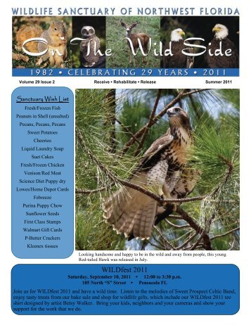 NEWSLETTER Summer 11 - Wildlife Sanctuary of Northwest Florida