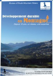 Développement durable - Mountain Riders