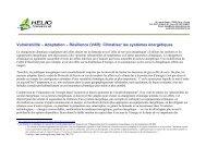 Adaptation – Résilience (VAR): Climatiser les systèmes énergétiques