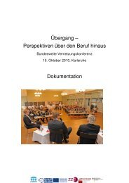 Übergang - Perspektiven über den Beruf hinaus - Zentrum für ...