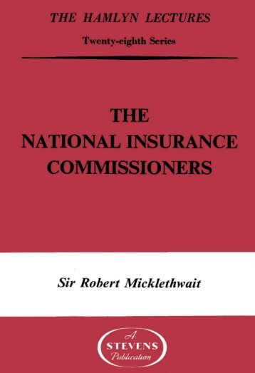 The National Insurance Commissioners - College of Social Sciences ...
