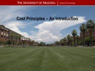 Cost Principles – An Introduction - Sponsored Projects