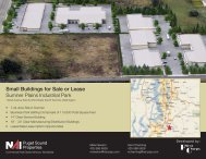 Small Buildings for Sale or Lease Sumner Plains Industrial Park