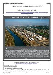 La pollution des cours d'eau et des nappes