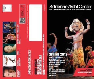 2012 Spring Brochure - Adrienne Arsht Center