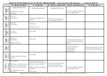 Unità Pastorale di Castel Maggiore : settimana 25 marzo – 1 aprile ...