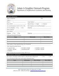 Adopt-A-Neighbor Outreach Application - the City of Hopewell Virginia