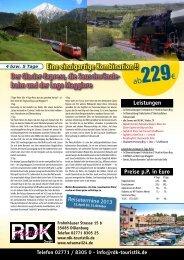 Der Glacier-Express, die Sauschwänzle- bahn und ... - Reisemail24