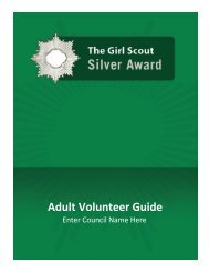 The Girl Scouts Silver Award- Adult Guide