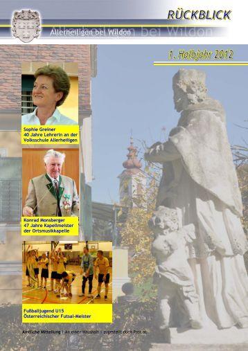 Rückblick 1. Halbjahr 2012 - Gemeinde Allerheiligen bei Wildon