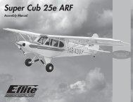 Super Cub 25e ARF Manual - E-flite