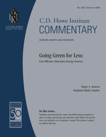 Cost-Effective Alternative Energy Sources - CD Howe Institute