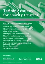 Training courses for charity trustees - Farrer & Co