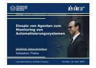 Einsatz von Agenten zum Monitoring von Automatisierungssystemen