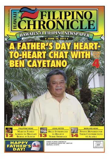06/18/2011 - Hawaii-Filipino Chronicle