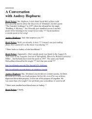 ------- A Conversation with Audrey Hepburn: - BrokenArtGallery.com
