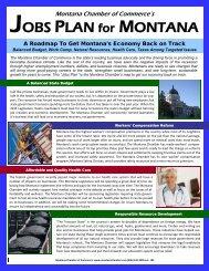 2010-2011 Jobs Plan - Montana Chamber of Commerce