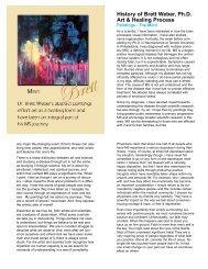 History of Brett Weber, Ph.D. Art & Healing Process