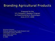 Branding Agricultural Products - Center for Agricultural and Rural ...