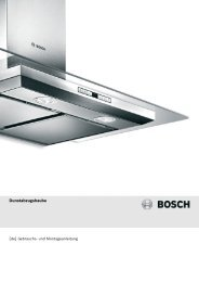 Bedienungsanleitung zu BOSCH DWA 06 D 650 Edelstahl ... - Innova