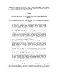 Facebook and Social Media: Implications for Counseling College ...