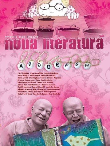 numărul 16 (iunie 08) - Noua literatura