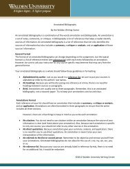 ©2012 Walden University Writing Center Annotated Bibliography By ...