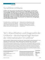 S3-Leitlinie Urtikaria Teil 1: Klassifikation und Diagnostik der ... - dgaki