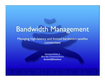 bandwidth management.key