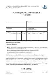Klausur Get B SS2010 - Fachgebiet Leistungselektronik und ...