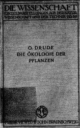Die Ökologie der Pflanzen - Digitale Bibliothek Braunschweig